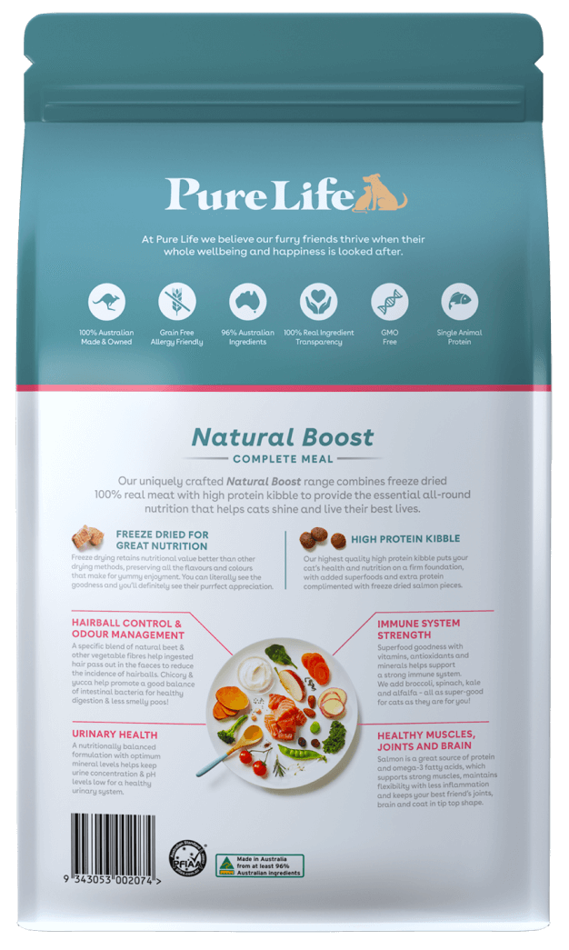 purelife adult cats salmon back